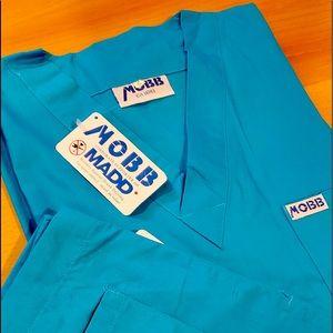 Nurses Scrubs Set. Electric Blue. XS